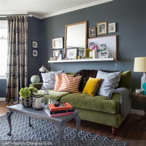 Wand Grau by Grau Blaue Wand Im Wohnzimmer In 2019 Wand Und Farbe