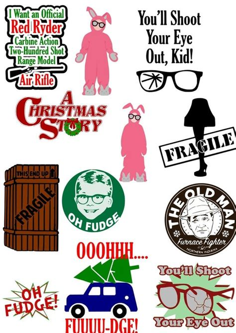 Free svg files to download. Christmas Story SVG files | Etsy