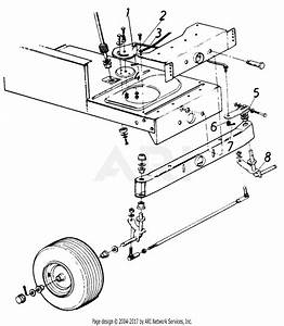 Mtd 13649c  1986  Parts Diagram For Steering