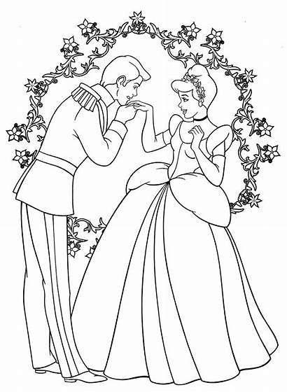 Cinderella Coloring Pages Disney Princess Colouring Printable