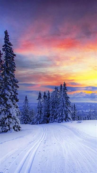 Iphone Winter Snow Wallpapers Forest Norway Desktop