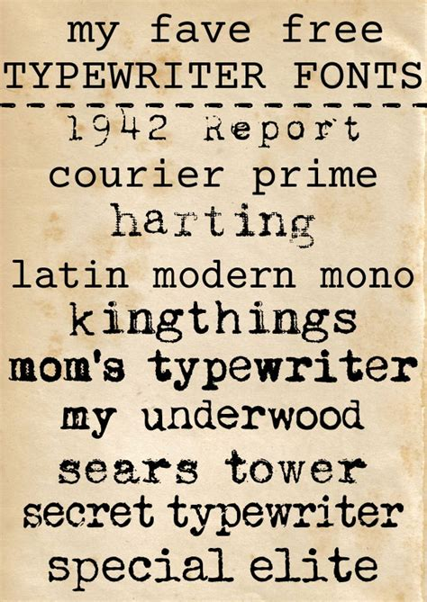 What Is The Best Type Of Font For A Resume by Free Typewriter Fonts For Personal Or Commercial Use