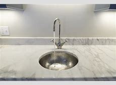 Hammered nickel bar sink, with polished nickel faucet
