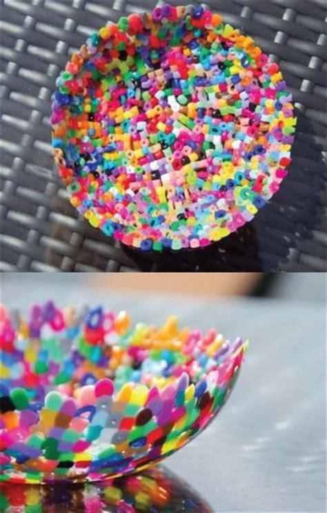 plastic perler bead bowls bead bowl straw crafts
