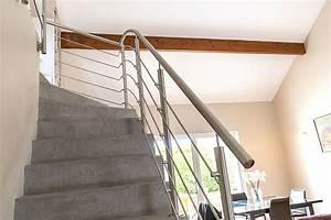 Escalier En Colimaçon Pas Cher : garde corps pour rampe et rambarde d 39 escalier inoxdesign ~ Premium-room.com Idées de Décoration