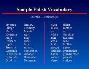 48  Sample Polish Vocabulary