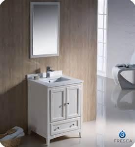 fresca oxford 24 inch w vanity in antique white finish