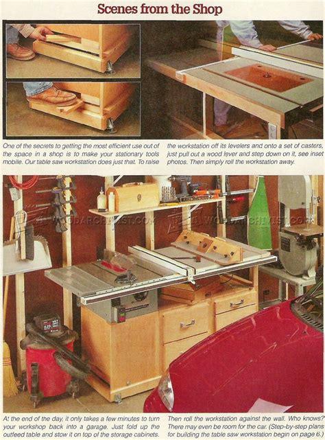 table  workstation plans woodarchivist