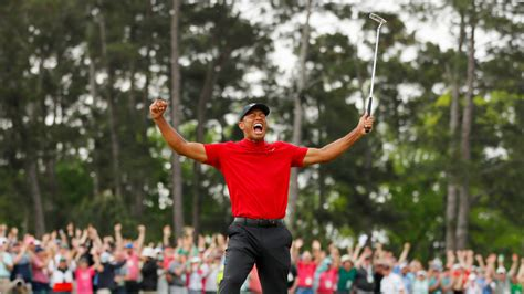 Tiger Woods Wins Masters Tournament In Historical Comeback ...
