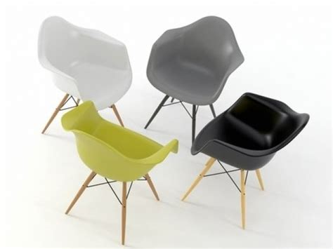 Eames Plastic Armchair Daw 3d Model
