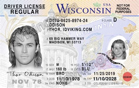 license wisconsin drivers template wi psd fake templates scannable