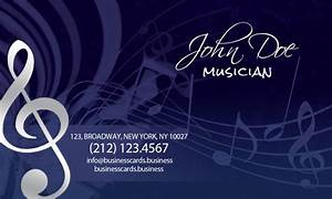 Free music business card template business cards templates for Music business cards templates free