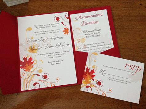 staggering fall themed wedding invitations theruntime