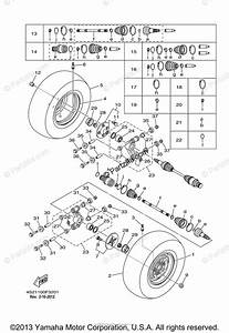 Yamaha Atv 2007 Oem Parts Diagram For Rear Wheel
