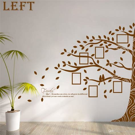 large vinyl family tree photo frames wall decal sticker vine branch removable wall decor wall