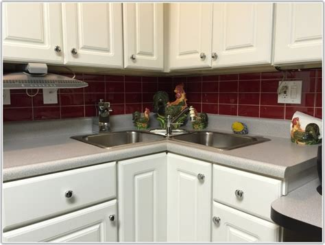 Red Subway Tile Kitchen Backsplash-tiles