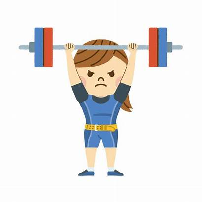 Lifting Weight Olympic Clip Weightlifting Illustrations Vectors