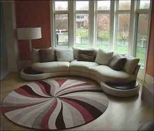 un tapis rond shaggy la touche de douceur et du confort With tapis rond de salon