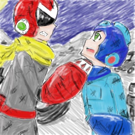 Protoman Vs Megaman Junkstage By General Loki On Deviantart