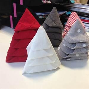 Pliage De Serviette En Tissu : pliage de serviette en forme de sapin de no l les ~ Nature-et-papiers.com Idées de Décoration