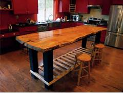 Handmade Custom Island Table By Jeffrey Coleson Art And Design Kitchen Island Ideas View More Kitchens Rosales Kitchen Island Pull Out Table Countryside Amish Furniture