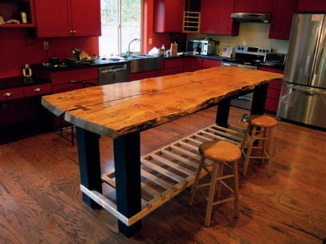 rustic kitchen islands and carts handmade custom island table by jeffrey coleson and