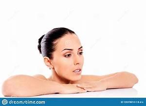 Bella Donna Nuda Isolata Su Fondo Bianco Fotografia Stock