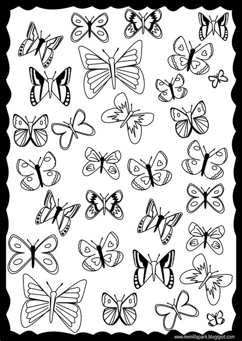 printable butterfly coloring page ausdruckbare