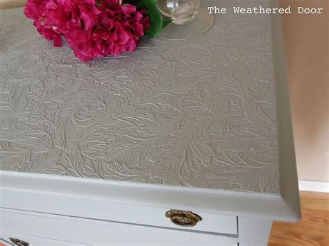 paintable wallpaper  cover ruined furniture tops