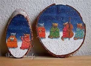 Basteln Mit Baumscheiben : kinderbasteln zu weihnachten weihnachtliche baumscheiben ~ Watch28wear.com Haus und Dekorationen