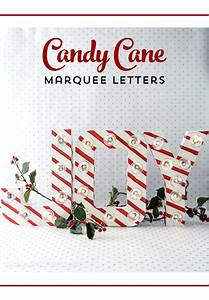 happy holidays candy cane marquee letters tatertots With christmas marquee letters