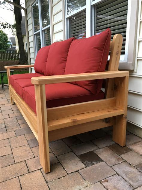 ana white cedar outdoor sofa diy projects
