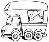 Rv Camper Drawing Motorhome Coloring Caravan Printable Voertuigen Campers Clipart Happy Cars Kleurplaat Trucks Kleurplaten Che Getdrawings Wohnwagen Malvorlagen Passione sketch template