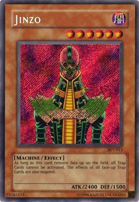 yu gi oh jinzo deck 2014 yugioh bpt 011 tin card jinzo secret holofoil card