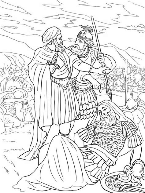 Kleurplaat Cing Tent by The Of King Saul Coloring Page Netart
