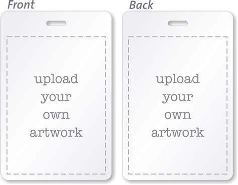 Custom Bi Fold Badges Add Text Logo Artwork Info Custom Bi Fold Badges Add Text Logo Artwork Info