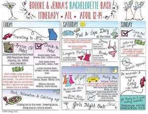 bachelorette itinerary template free bachelorette itinerary templates and on