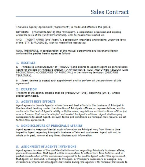 sale contract  printable documents