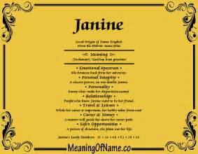 Janine X Janine Meaning Of Name
