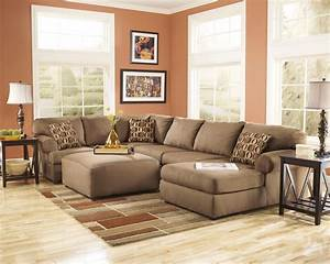 cowan mocha right arm facing sectional from ashley With ashley furniture cowan 3 piece sectional sofa in mocha