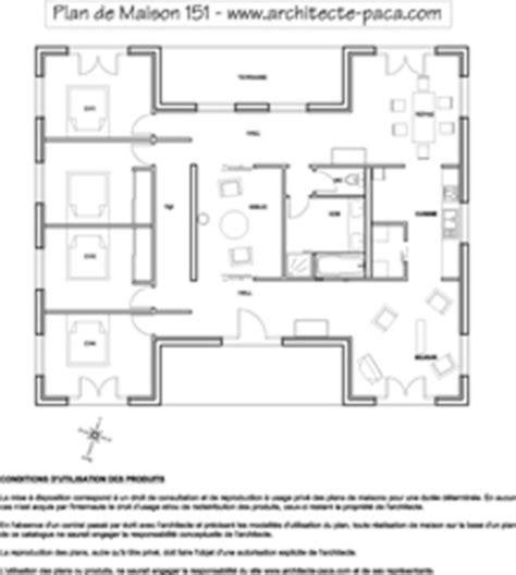 plan 4 chambres plain pied plan maison bois de 5 pièces villad 39 architecte 151