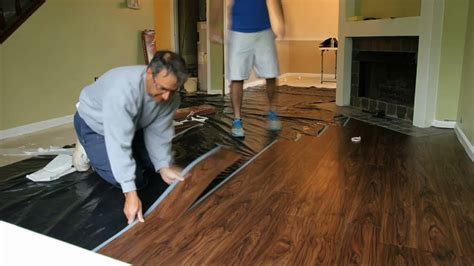 Installing Laminate Flooring On Concrete by Allure Flooring Installation Timelapse Youtube