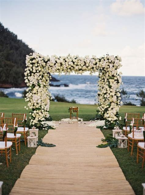 19 Charming Beach and Coastal Wedding Arch Ideas for 2018