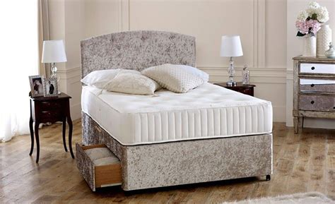 31830 new what size is a bed premium crushed velvet 4ft 6in divan bed base