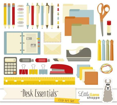 Back to School Clip Art Office Supplies Clipart Desk