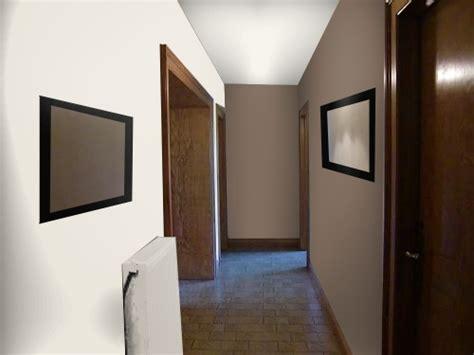 chambre blanc et taupe peinture d 39 un couloir étroit et assez