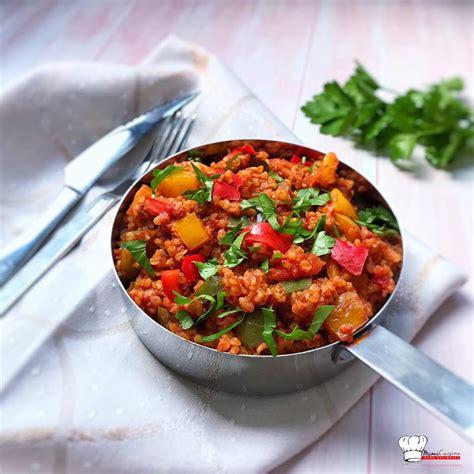 boulgour  la turque poivrons  tomates recette cookeo