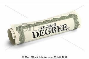 Stock Photography of College Degree - Rolled up College ...