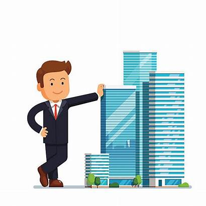 Business Owner Entrepreneur Estate Developer Clip Vector