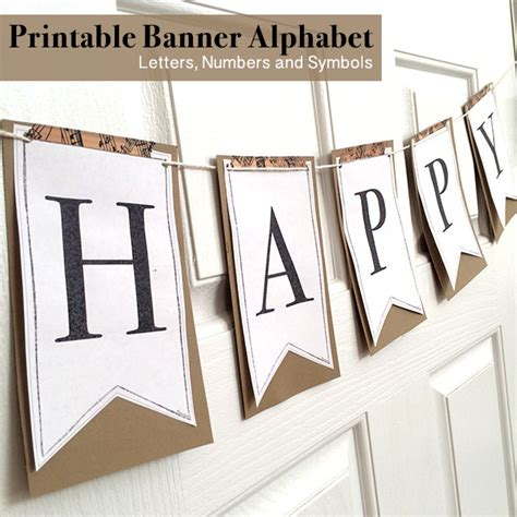 printable full alphabet  banners  country chic cottage